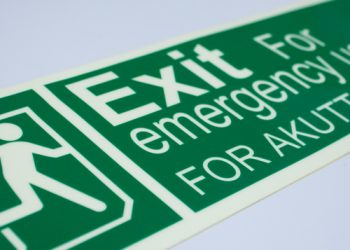 Dual Language Exit Sign