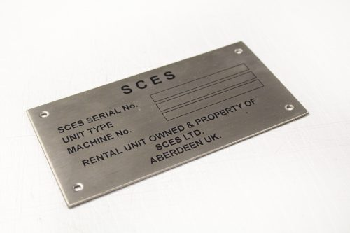 Etched Data Plate
