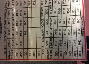 Alumium Rating Plate