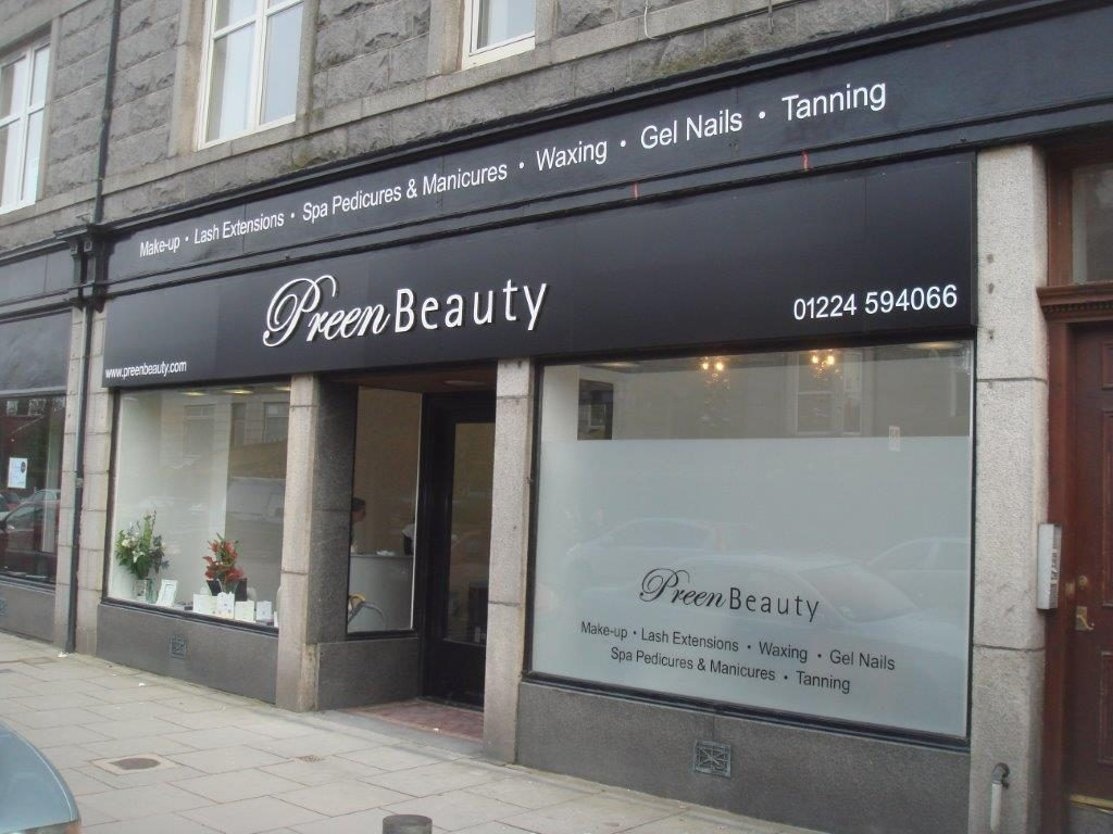Henderson dick designs commercial signage examples for Aberdeen college beauty salon